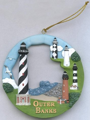Outer Banks, NC Round Ornament #SI017