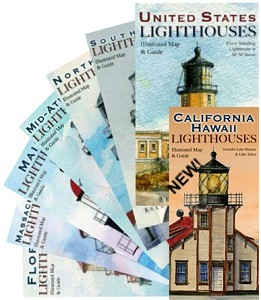 Complete Set of All 8 Lighthouses Maps - Folded L100Set