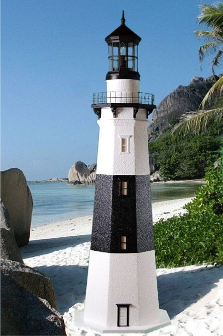4' Foot - Montauk, NY Deluxe Stucco Lawn Lighthouse