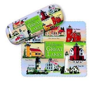 Great Lakes Eye Glass Case with Cloth