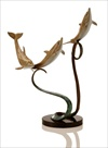 Triple Dolphins Ribbon #80136 Table Art Sculpture