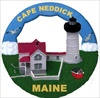 Cape Neddick - Nubble  ME Round Ornament #114RO