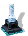 Port Washington Breakwater, WI - Miniature Sculpture - #236MIN