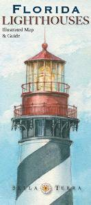 Florida Lighthouses Map & Guide L10020