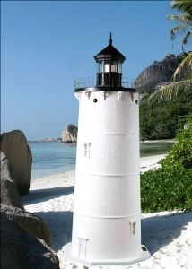 4 Foot - Cape Neddick &quot;Nubble&quot;, ME Deluxe Stucco Lawn Lighthouse