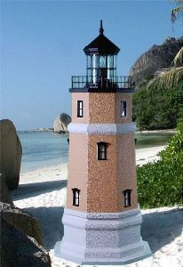 4 Foot - Split Rock, MN Deluxe Stucco Lawn Lighthouse