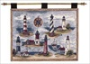 Tapestry Wall Hanging - East Coast Lighthouses