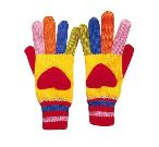 Hearts Knit Gloves