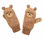 Bear Knit Mittens
