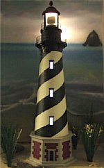 LED Light-Up Windows for 4'-5' Deluxe Lawn Lighthouses