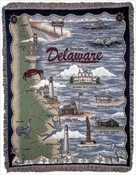 Blanket / Throw - Beaches of Delaware #RTP