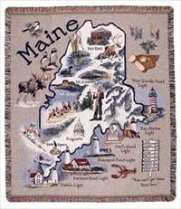 Blanket / Throw - State of Maine #TPM744