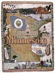 Blanket / Throw - State of Minnesota #TPM795