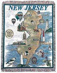 Blanket / Throw - State of New Jersey #RTP032592