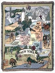 Blanket / Throw - State of New York #RTP007958