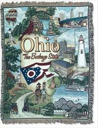 Blanket / Throw - State of Ohio #RTP042690