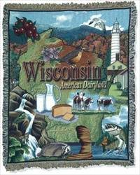 Blanket / Throw - State of Wisconsin #RTP052118