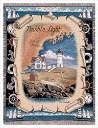 Blanket / Throw - Nubble Light, ME #RTP023996