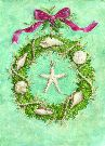 Christmas Cards - Beach Wreath - #52548
