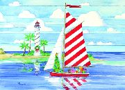 Christmas Cards - Candy Cane Sailing - #52587