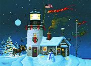 Christmas Cards - Moose Lighthouse - #52619