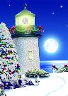 Christmas Cards - Moonlit Lighthouse #66137