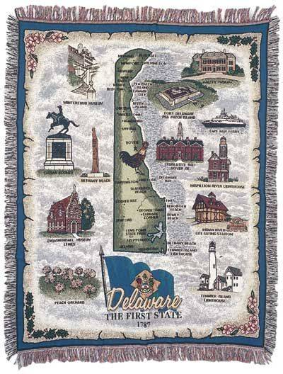 Blanket / Throw - State of Delaware #RTP032615
