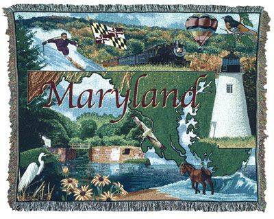 Blanket / Throw - State of Maryland #RTP054334