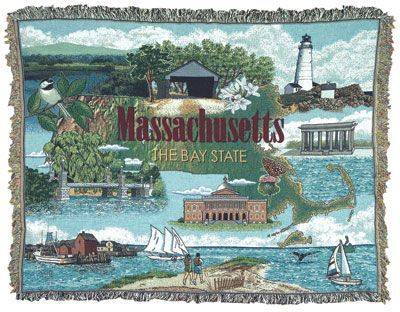 Blanket / Throw - State of Massachusetts #RTP054327