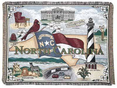 Blanket / Throw - State of North Carolina #RTP031212