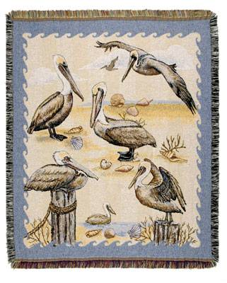 Blanket / Throw - Pelicans #TPM901