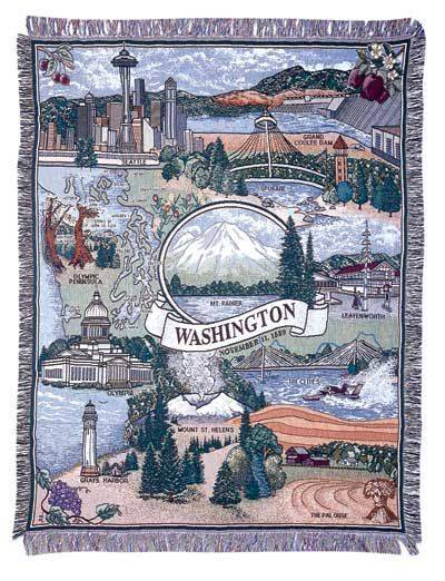 Blanket / Throw - State of Washington #RTP025419
