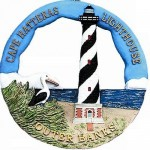 088RO Cape Hatteras, NC Lighthouse Round Ornament