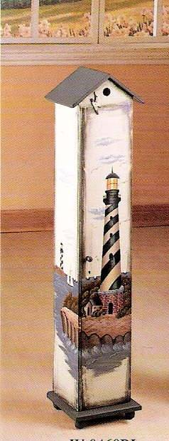 Lighthouse Hand Painted Cd Holder